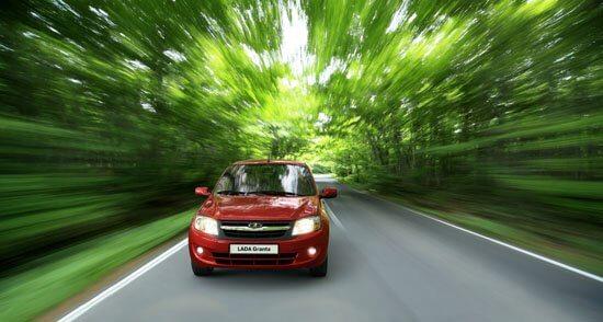 Рекламный плакат бюджетного седана Granta. Автомобили Лада Калина 2. Новости, описание, видео.