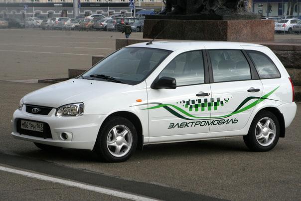 """El Lada универсал (электромобиль на базе """"Лады Калины""""). Автомобили Лада Калина 2. Новости, описание, видео."""