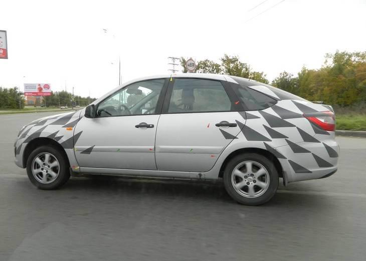 Гранта хэтчбек, замеченная на ходовых испытаниях. Автомобили Лада Калина 2. Новости, описание, видео.