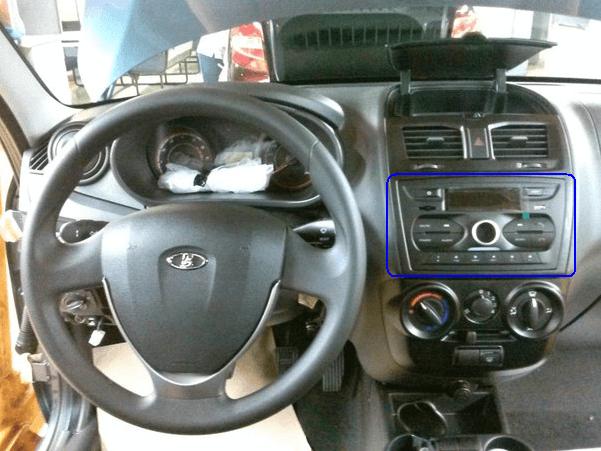 Штатное головное устройство автомобиля Калина-2 Норма. Автомобили Лада Калина 2. Новости, описание, видео.