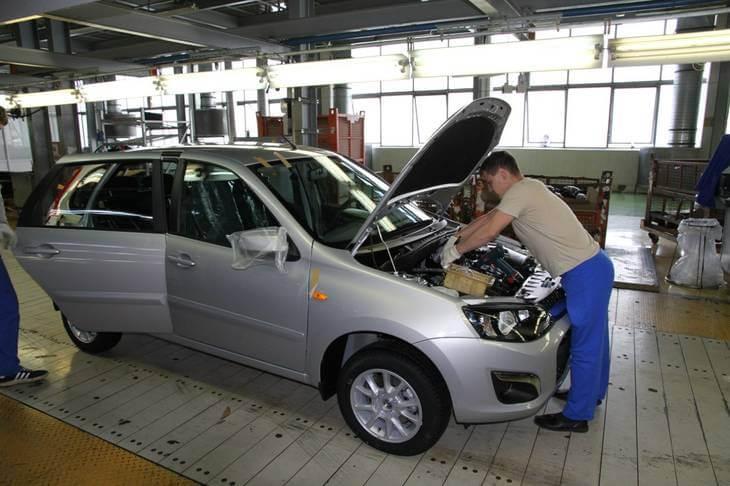 Конвейер по выпуску автомобилей Калина-2 и Гранта. Автомобили Лада Калина 2. Новости, описание, видео.