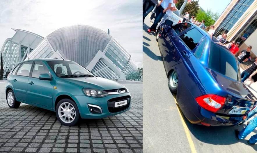 Синий оттенок в гамме моделей Калина-2 и Приора. Автомобили Лада Калина 2. Новости, описание, видео.