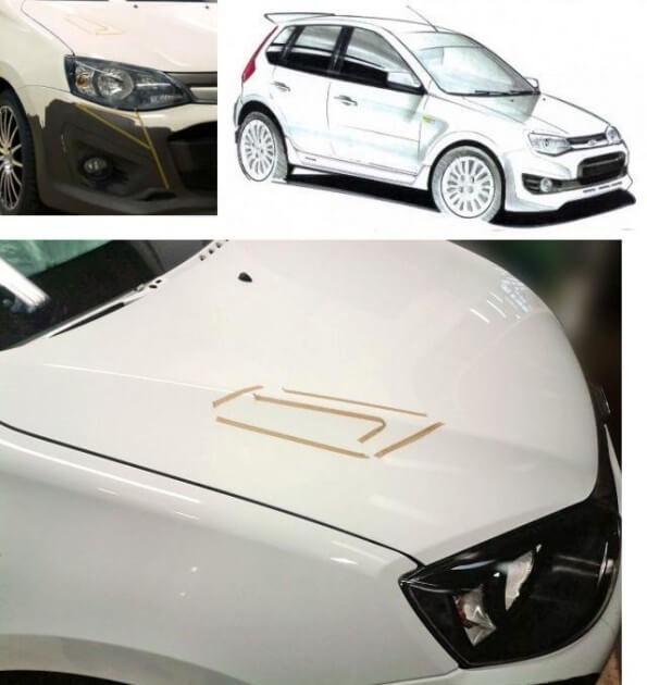 Внешность автомобиля LADA Champion, спортивной версии Калины-2. Автомобили Лада Калина 2. Новости, описание, видео.