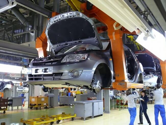 Цех по выпуску автомобилей Калина-2 и Гранта. Автомобили Лада Калина 2. Новости, описание, видео.