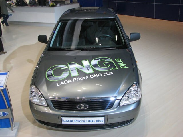 LADA Priora CNG Plus, модель 2010 года. Автомобили Лада Калина 2. Новости, описание, видео.