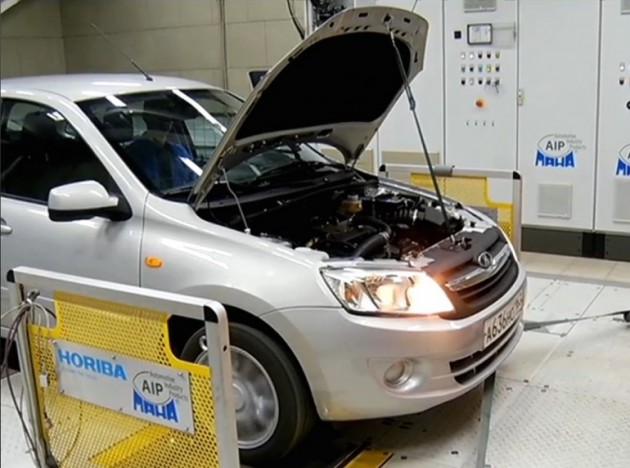Тестирование Гранты-гибрида на стенде. Автомобили Лада Калина 2. Новости, описание, видео.