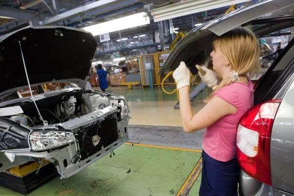 Сборочный конвейер Granta/Kalina II. Автомобили Лада Калина 2. Новости, описание, видео.
