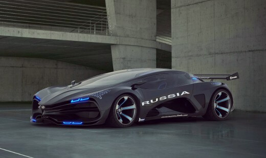 Суперкар LADA Raven, 3D-модель