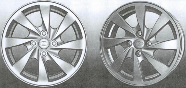 Литые диски автомобиля Kalina Cross