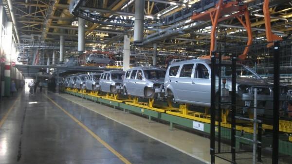 Одна из окрасочных линий, завод ВАЗ