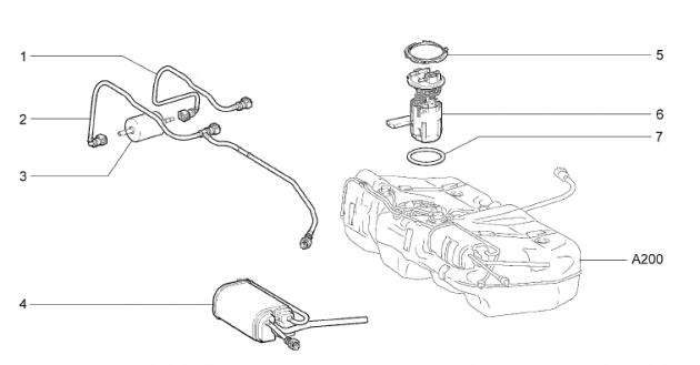 Каталог деталей ВАЗ-2192/94, бак топливный