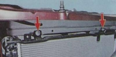 Демонтаж радиатора, шаг 2