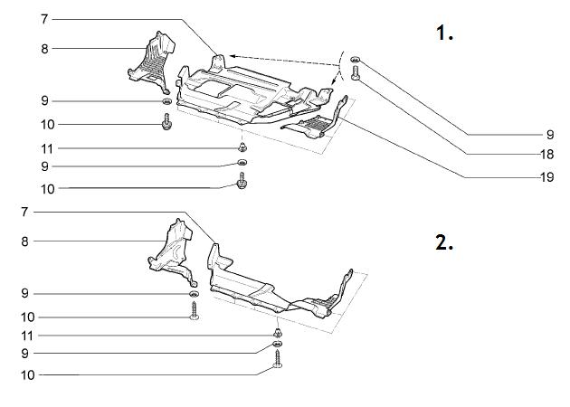 Защита картера, брызговик двигателя ВАЗ-2192