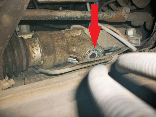 Упорная гайка рулевой рейки, а/м ВАЗ-2192