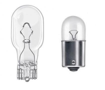 Лампы типоразмера W16W и R10W