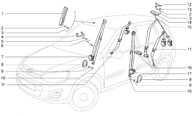 Детали и узлы салона ВАЗ-2192