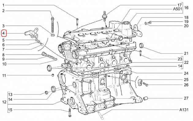 16-клапанный двигатель, датчик фаз
