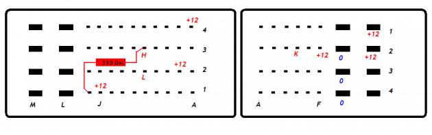 Схема подключения ЭБУ M74CAN к